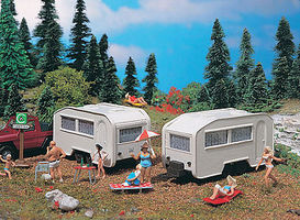 Vollmer Camper (2) HO Scale Model Railroad Vehicle #45147