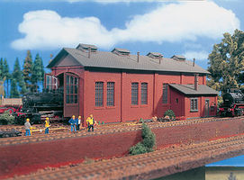 Vollmer Single Stall Brick Engine House Kit HO Scale Model Railroad Building #45762