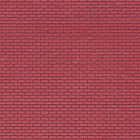 Vollmer Red Brick Sheet (5) HO Scale Model Railroad Building Accessory #46033