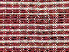Vollmer Stone Pattern Embossed Paper Red Brick HO Scale Model Railroad Building Accessory #46042