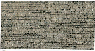 Vollmer Gmbh Embossed Stone Wallpaper -- HO Scale Model Railroad Building Accessory -- #46049