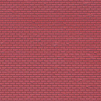 Vollmer Red Brick Sheet (5) N Scale Model Railroad Building Accessory #47349