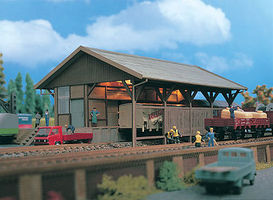 Vollmer Freight Shed Kit N Scale Model Railroad Building #47539