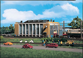 Vollmer Operating Engine Shed Kit N Scale Model Railroad Building #47605