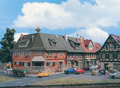 Market Street House House Rue De Marche Kit    N Scale Model Railroad  Building    #47630