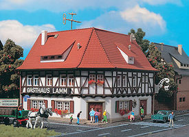 Vollmer Lamm Gasthaus Restaurant Kit N Scale Model Railroad Building #47645
