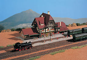 Vollmer Highland station Neuffen Z Scale Model Railroad Building #49510