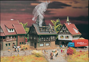 Vollmer House on Fire Z Scale Model Railroad Building #49538