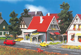 Vollmer Gray House w/Red Roof Z Scale Model Railroad Building #49572