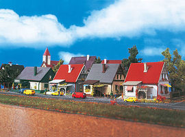 Vollmer House Set (4) Z Scale Model Railroad Building #49575