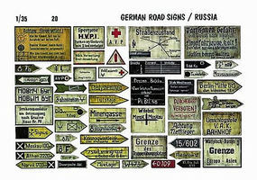 Verlinden 1/35 German Roadsigns Russia Diorama Book #0020