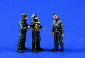 Verlinden Luftwaffe Pilot & Crew Resin Model Military Figure Kit 1/48 Scale #0467