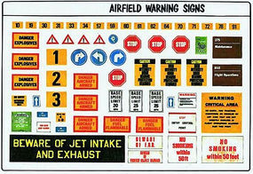 Verlinden Modern Airbase Signs Plastic Model Aircraft Decal 1/48 Scale #0491