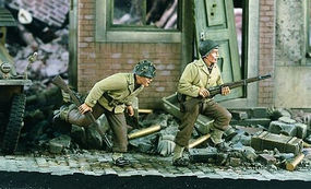 Verlinden WWII US Infantry Running Resin Model Military Figure Kit 1/35 Scale #1712