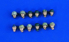 Verlinden German Para Head Set (12) Resin Model Military Figure Kit 1/35 Scale #1800
