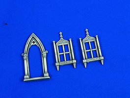 Verlinden Church Door & Windows Plastic Model Detailing Accessory 1/35 Scale #1954
