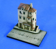 Verlinden Village Street Corner with Base Resin Military Diorama Kit 1/72 Scale #2127