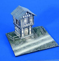 Verlinden German 2-Story Barn with Base Resin Military Diorama Kit 1/48 Scale #2285