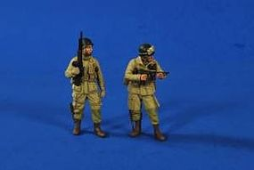 Verlinden WWII US Airborne Soldiers (2) Resin Model Military Figure Kit 1/35 Scale #2620