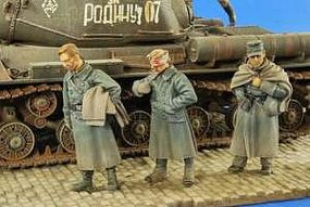 Verlinden Road to Siberia- 3 German POWs Resin Model Military Figure Kit 1/35 Scale #2649