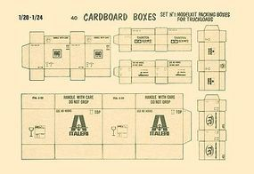 Verlinden Cardboard Boxes/Model Brands Plastic Model Detailing Accessory 1/20-1/24 Scale #40