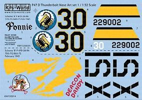 Warbird P47 Ponnie, Deacon Dandy Plastic Model Aircraft Decal 1/32 Scale #132014