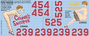 Warbird P61, Coopers Snooper Pacific Theatre 1944-45 Plastic Model Aircraft Decal 1/32 Scale #13201