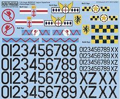 Warbird British Jaguar 6th/14th & 31st Sq 1970 Plastic Model Aircraft Decal 1/32 Scale #132021