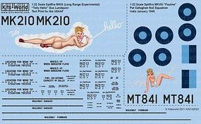 Warbird Spitfire Mk IXc (LRE) Tolly Hello, MK VIII Plastic Model Aircraft Decal 1/32 Scale #132