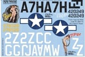 Warbird P47D Fran, Tipsy Plastic Model Aircraft Decal 1/32 Scale #132036