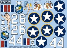 Warbird P40 Butterfly Girl, High Kicker Plastic Model Aircraft Decal 1/32 Scale #132038