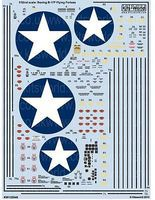 Warbird B17F General Stenciling & Walkway Lines Plastic Model Aircraft Decal 1/32 #132046
