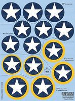 Warbird B25 Mitchell Cocarde Markings Plastic Model Aircraft Decal 1/32 Scale #132