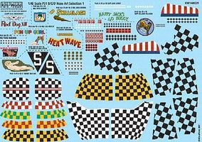 Warbird P51D Nose Art, Kill Markings & Checkers for 10 Aircraft Decal 1/48 Scale #148029