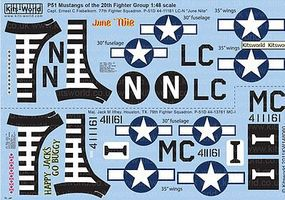 Warbird P51D Happy Jacks Go Buggy, June Nite Plastic Model Aircraft Decal 1/48 Scale #148060