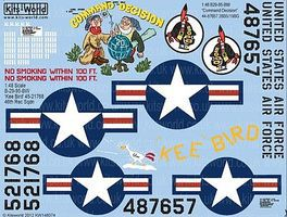 Warbird B29 Command Decision, Kee Bird Plastic Model Aircraft Decal 1/48 Scale #148074