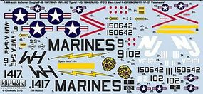 Warbird McDonnell F4B Phantom Tigers, Black Lions, Pacemakers Model Aircraft Decal 1/48 #148095