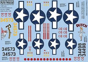 Warbird B25H Powerhouse, Dutch Plastic Model Aircraft Decal 1/32 Scale #148096