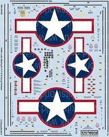 Warbird B17F/G Red Outlined Stars & Bars, General Stenciling, Cockpit Instrumentation 1/48 #148125