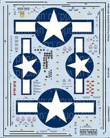 Warbird B17G Stars & Bars, General Stenciling, Cockpit Instrumentation & Walkways 1/48 #148128