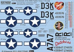 Warbird P47D Hard to Get, The Down Necker Plastic Model Aircraft Decal 1/72 Scale #172045
