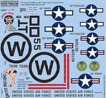 Warbird B29 Joltin Josie The Pacific Pioneer Plastic Model Aircraft Decal 1/72 Scale #172073