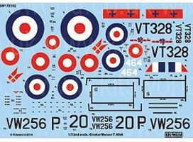 Warbird 1/72 Gloster Meteor F Mk IV 263rd Sq., 207th Advanced Flying School RAF & 464th Royal Danish Naval Air Service for HKM