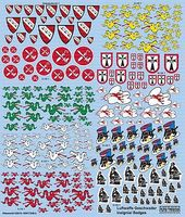 Warbird Luftwaffe Fighter Unit Emblems Pt.2 Plastic Model Aircraft Decal 1/72 Scale #172483