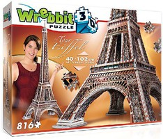 Wrebbit Wrebbit 3D- Eiffel Tower, France Foam Puzzle (916pcs)