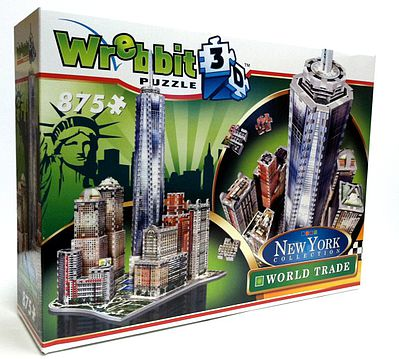 Wrebbit Downtown World Trade Foam Puzzle (875pcs) -- 3D Jigsaw Puzzle -- #2012