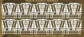 White-Ensign SBD3 Detail Set for 10 Aircraft Plastic Model Aircraft Accessory 1/350 Scale #3532