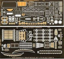 White-Ensign Type VIIc U-Boat Detail Set for RVL Plastic Model Ship Accessory 1/72 Scale #7203