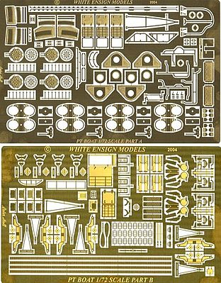 White Ensign Models PT109 Torpedo Boat Detail Set for RMX -- Plastic Model Ship Accessory -- 1/72 Scale -- #7205