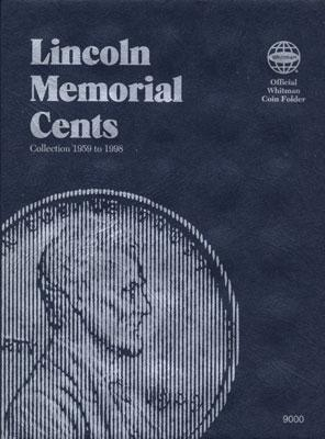 Whitman Publishing Lincoln Memorial Cents 1959-1998 Coin Folder -- Coin Collecting Book and Supply -- #0307090000